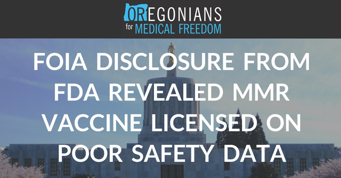 New FOIA Requests Expose MMR Vaccine Trial Results Clearly Indicating Vaccine Should Never Have Been Approved