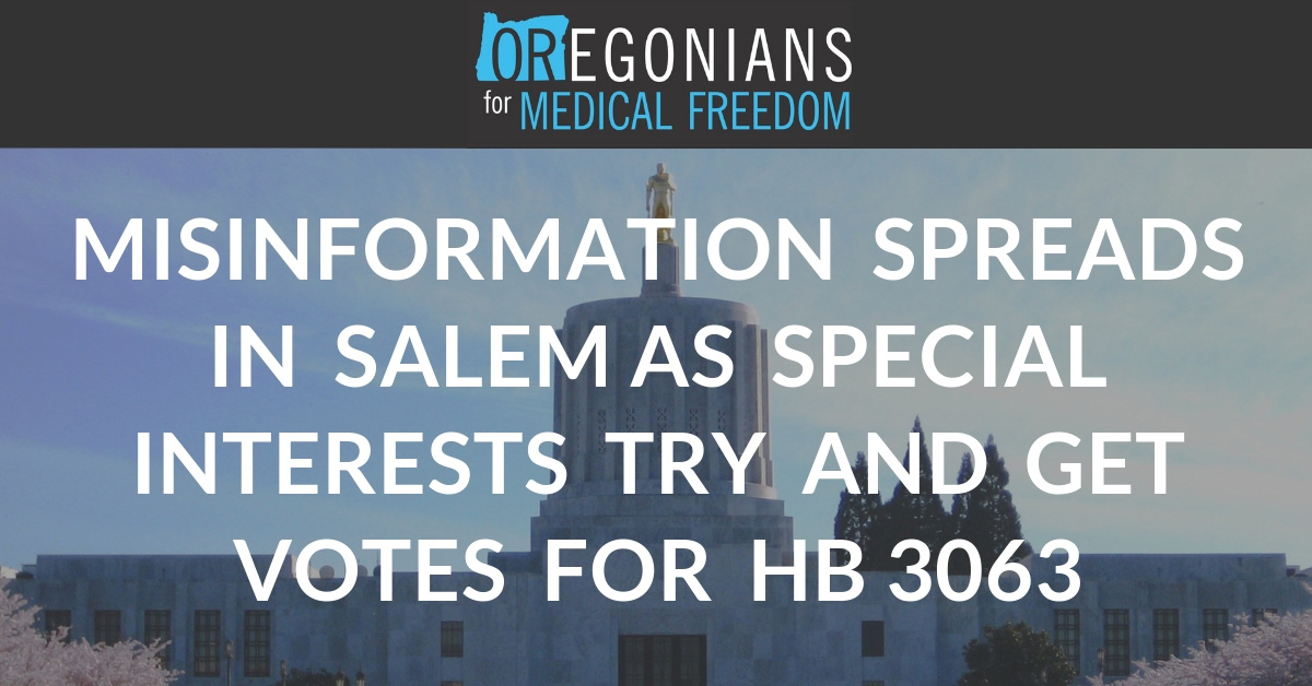 Measles Outbreak Declared Over Yet Special Interests Drive Spread of Misinformation Around Capitol | Oregonians For Medical Freedom