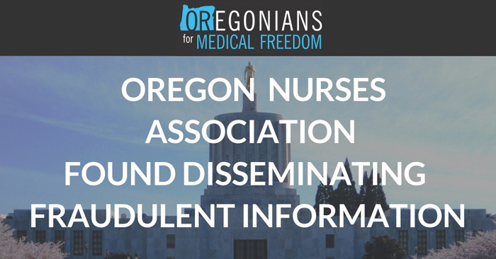 Cease & Desist Letter Issued to Oregon Nurses Association After Fraudulent Communications Discovered | Oregonians For Medical Freedom